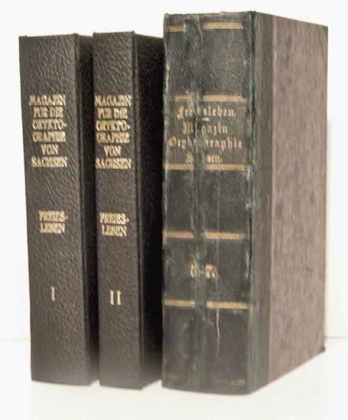 Rare Mineralogy Journal: Freiesleben, Johann Carl, editor; Magazin für die Oryktographie von Sachsen. 1828-1836.