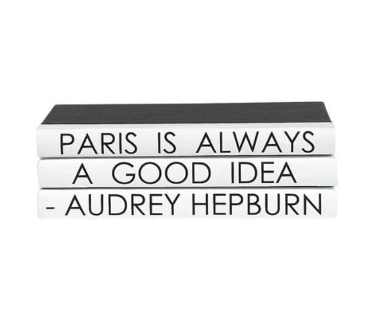 Quote Bookset Hepburn Paris Mod Matter Of Design