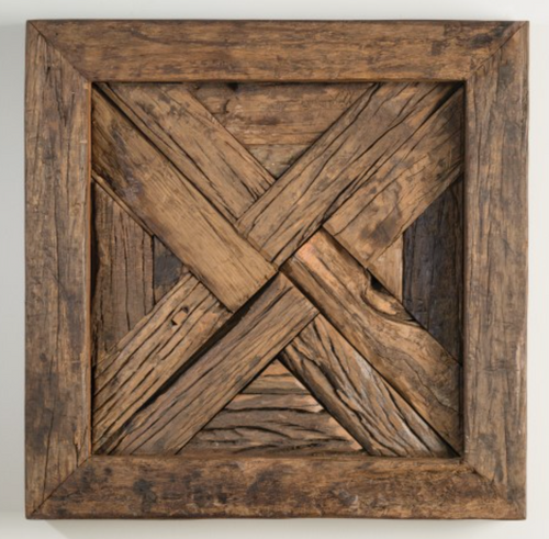 Wood Art Panel- X pattern