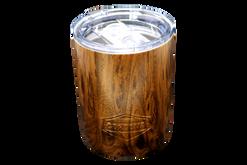 10oz Marble Tumbler Angle [Woodgrain]