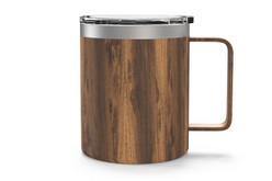 12 oz Woodgrain Camp Mug Back [Woodgrain]