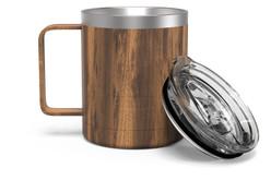 12 oz Woodgrain Camp Mug Full [Woodgrain]
