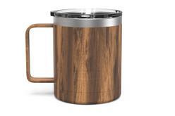 12 oz Woodgrain Camp Mug Front [Woodgrain]