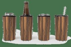 Woodgrain Quad Drink Caddy 4 Function [Woodgrain]