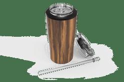 Woodgrain Quad Drink Caddy Iso [Woodgrain]