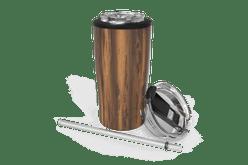 Woodgrain Quad Drink Caddy Front [Woodgrain]