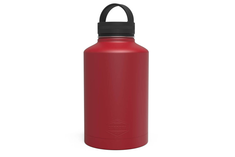 64 oz Red Water Bottle Front [Red]