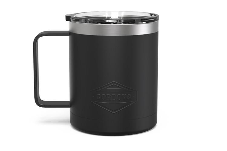 12 oz Black Camp Mug Front [Black]