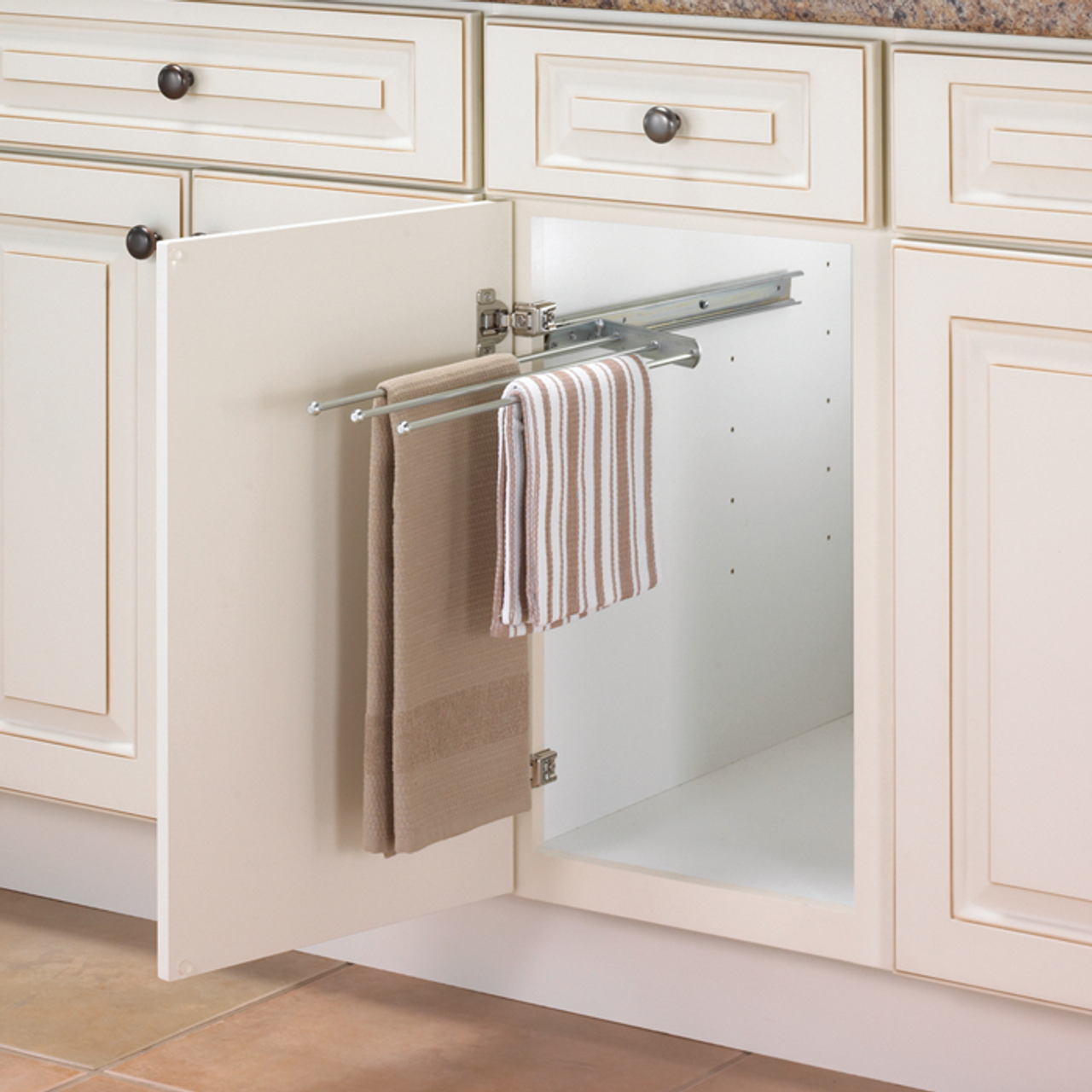 Slide Out Cabinet Towel Bar Solutions Your Organized