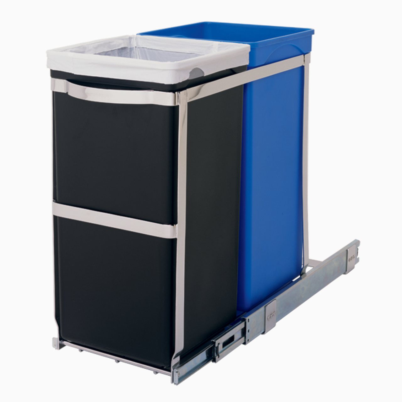 Dual Pull Out Recycler 35l Solutions Your Organized