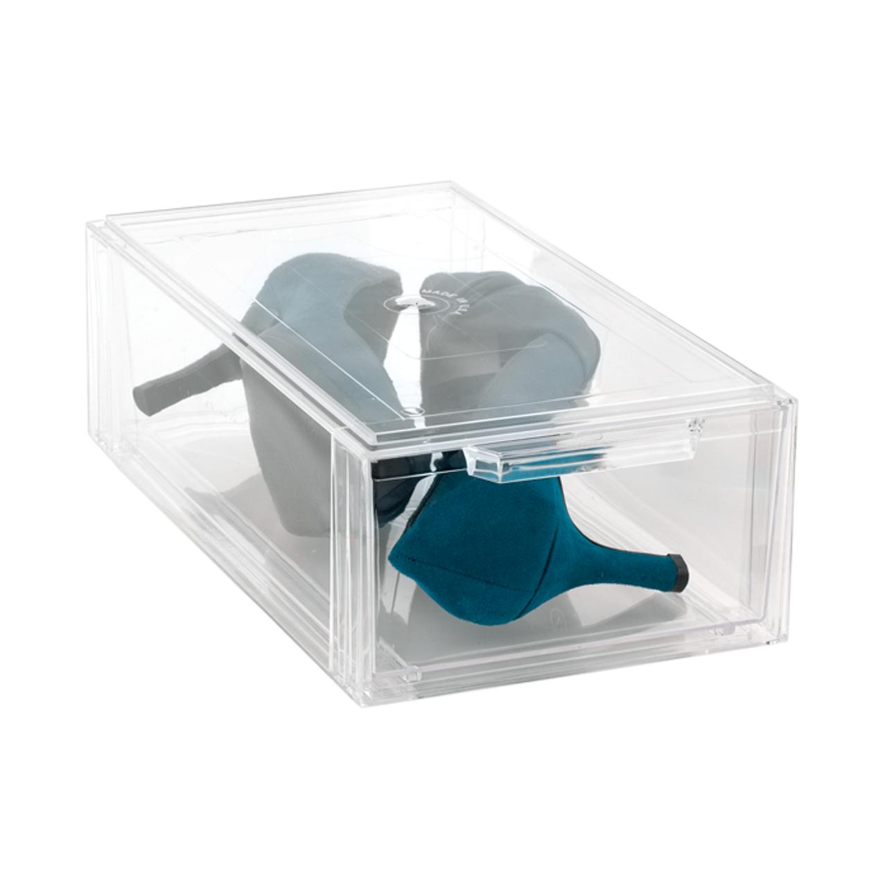 Clear Shoe Storage Boxes.Ladies Shoe Drawer
