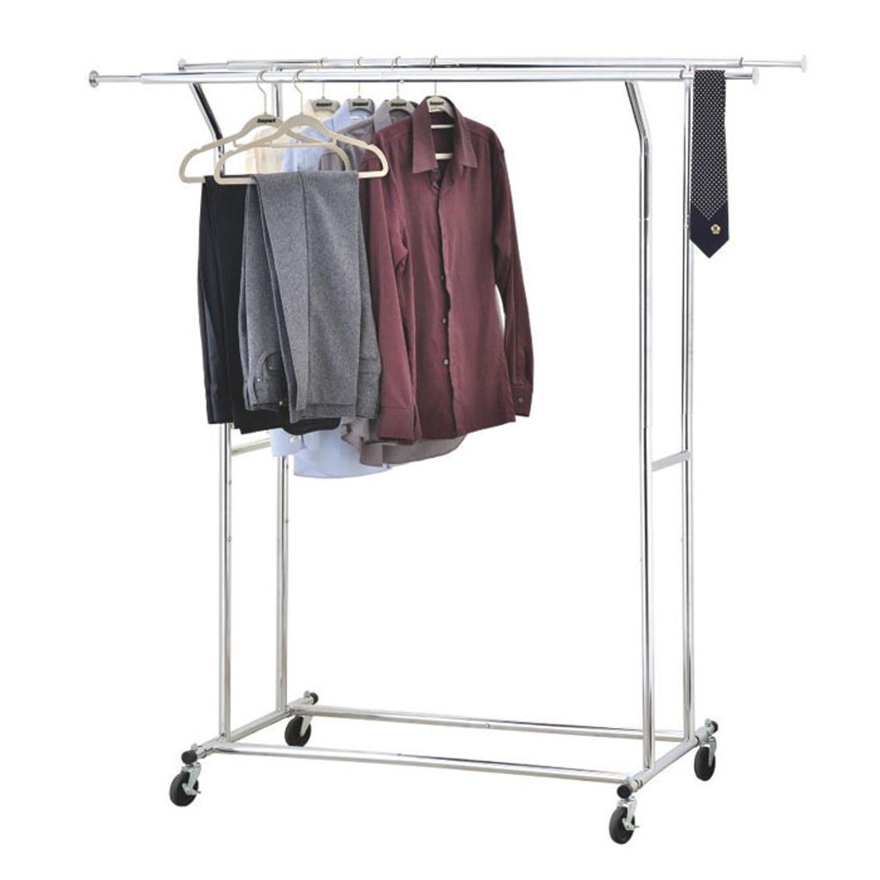 Double Commercial Garment Rack