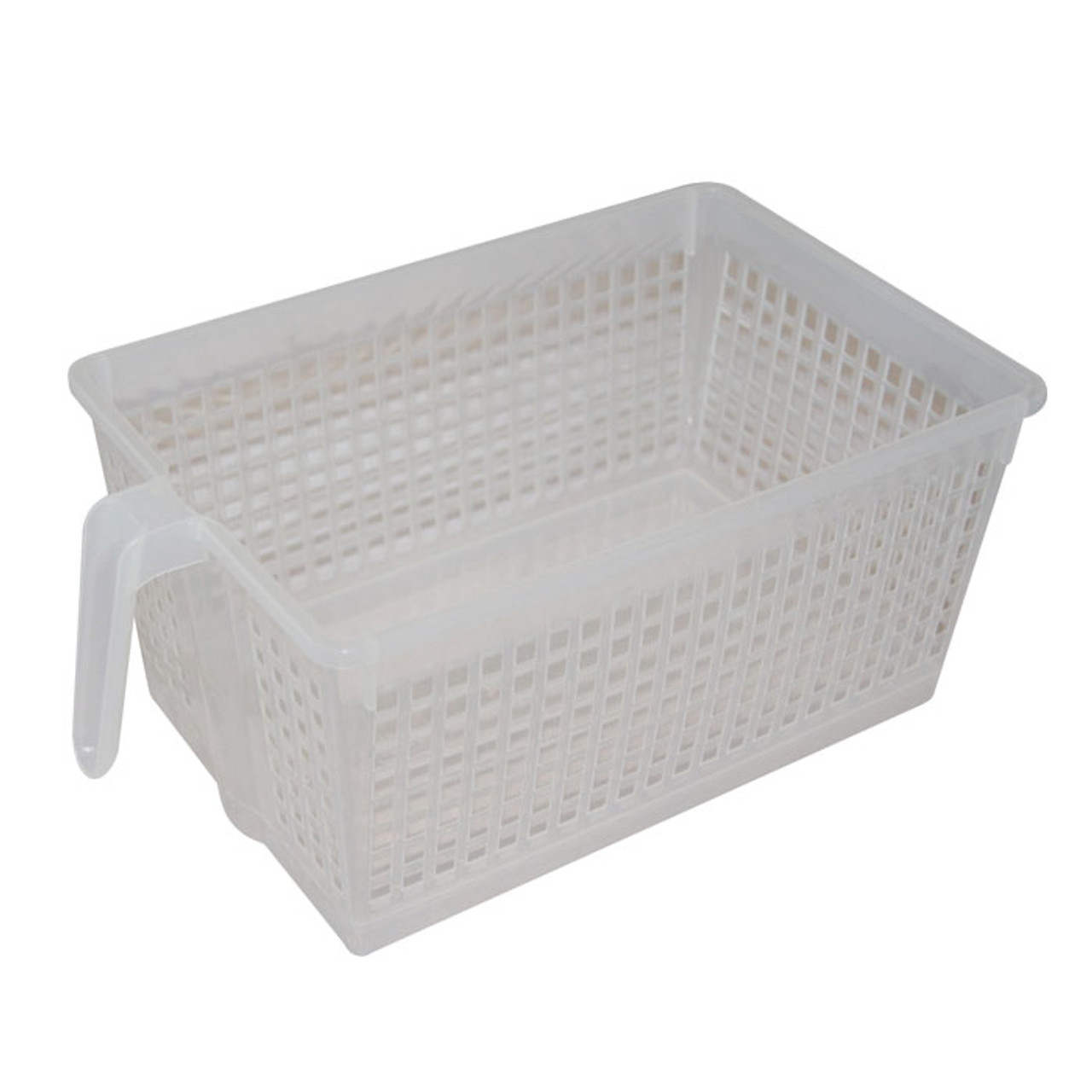 11fc6c3a33239 Handled Storage Basket, L Clear - Solutions - Your Organized Living ...