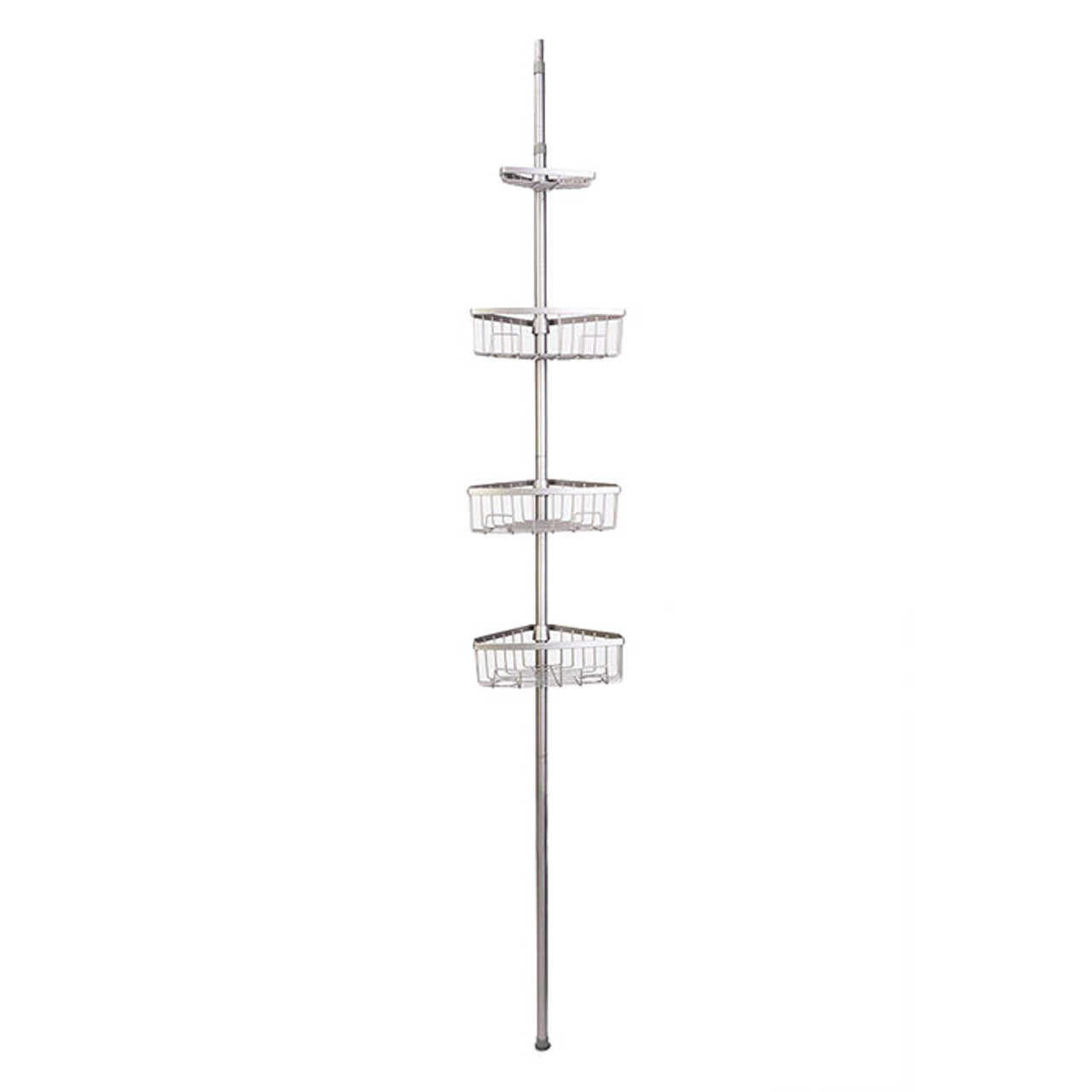 Tension Pole Shower Caddy Satin Nickel Solutions Your