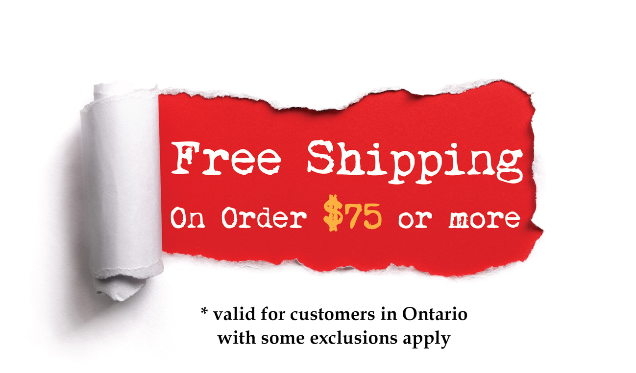 Free Shipping for orders above $75