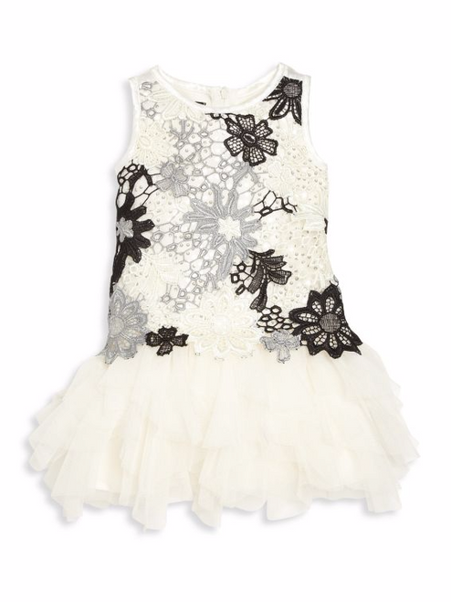 Modern Princess Floral Lace Dress