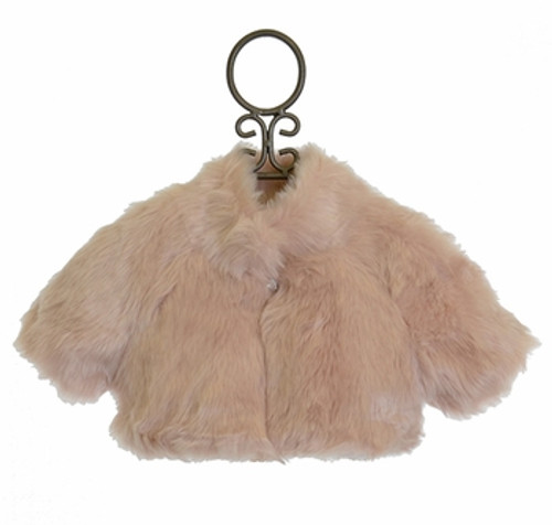 Shrug in Faux Fur Champagne