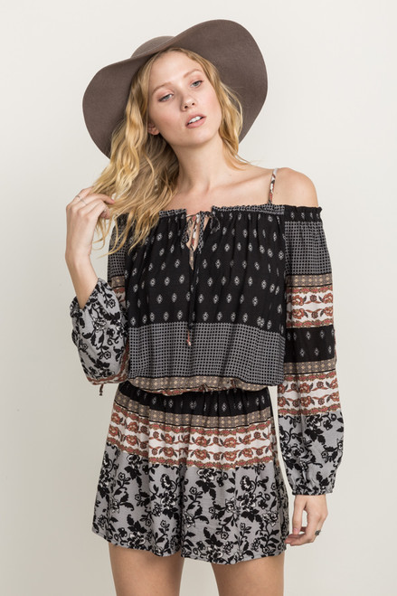The Bella Boho Off The Shoulder Romper