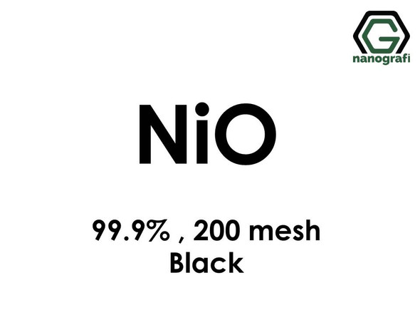 NiO(Nickel Oxide) Micron Powder (Black),200 Mesh, 99.9 %