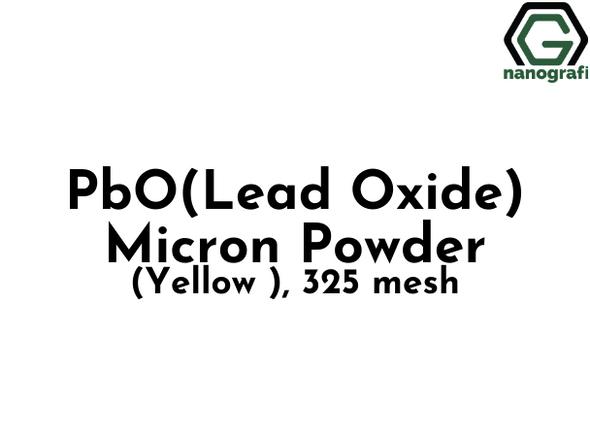 PbO(Lead Oxide) Micron Powder(Yellow ), 325 mesh, 99.99 %