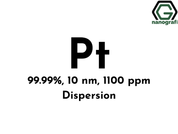 Platinum (Pt) Nanopowder/Nanoparticles Dispersion, Purity: 99.99%, Size: 10 nm, 1100 ppm- NG04EO0401