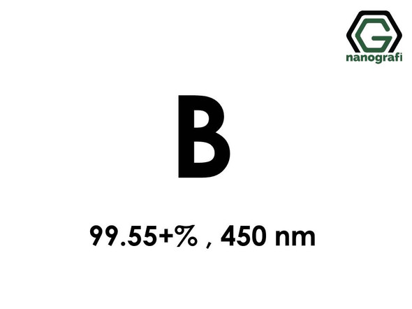 Boron (B) Nanopowder/Nanoparticles, Purity: 99.55+%, Size: 450 nm- NG04EO0502