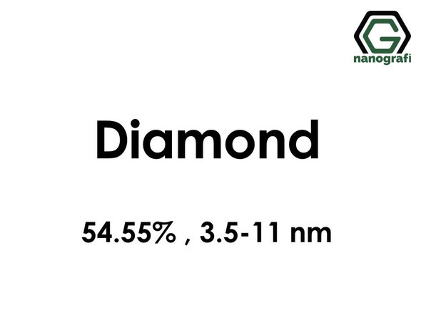 Diamond (C) Nanopowder/Nanoparticles, Purity: 54.55%, Size: 3.5-11 nm- NG04EO0701