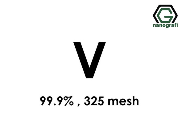 V(Vanadium) Micron Powder, 325 Mesh, 99.9 %