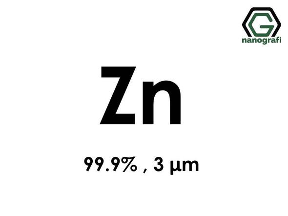 Zn(Zinc) Micron Powder, 3 Micron, 99.9 %