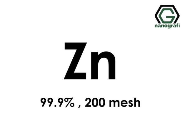 Zn(Zinc) Micron Powder, 200 mesh, 99.9 %