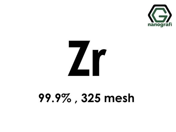 Zr(Zirconium) Micron Powder, 325 Mesh, 99.9 %