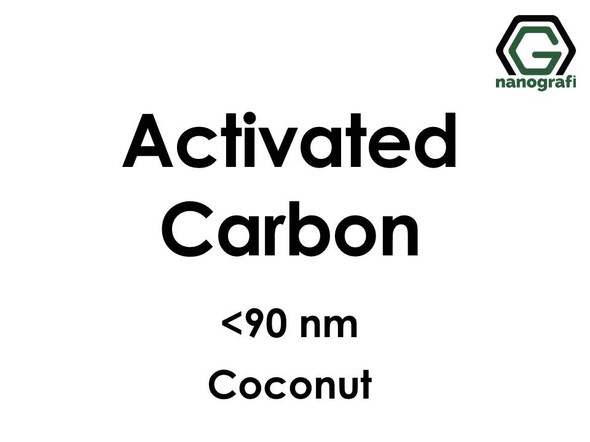 Activated Carbon (C) Nanopowder/Nanoparticles,  Size: < 90 nm, Coconut- NG04EO0708