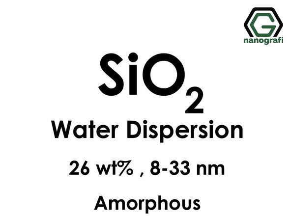 SiO2 in Water, amorphous, 26 wt%, 8-33nm