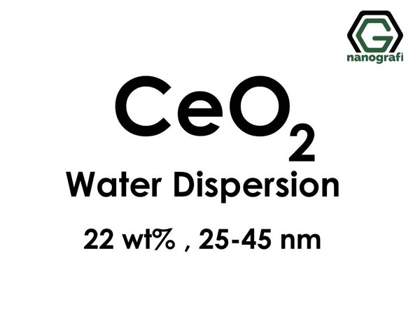 Cerium Oxide (CeO2) Nanopowder/Nanoparticles Water Dispersion, Size: 25-45 nm, 22 wt%