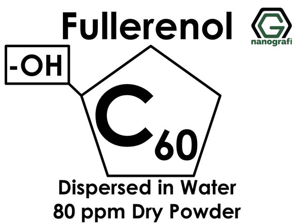 Polyhydroxylated fullerene (Fullerenols) / C60, -OH Functionalized, Dispersed in Water,  80 ppm