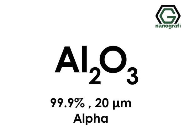 Aluminium Oxide micron powder, 20 micron, 99.9%, alpha