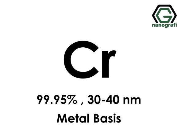Chromium (Cr) Nanopowder/Nanoparticles, Purity: 99.95%, Size: 30-40 nm, Metal Basis- NG04EO0901