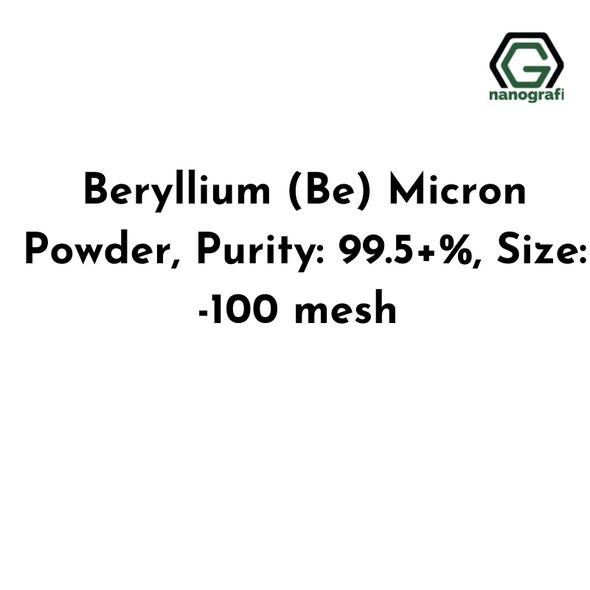 Beryllium (Be) Micron Powder, Purity: 99.5+%, Size: -100 mesh