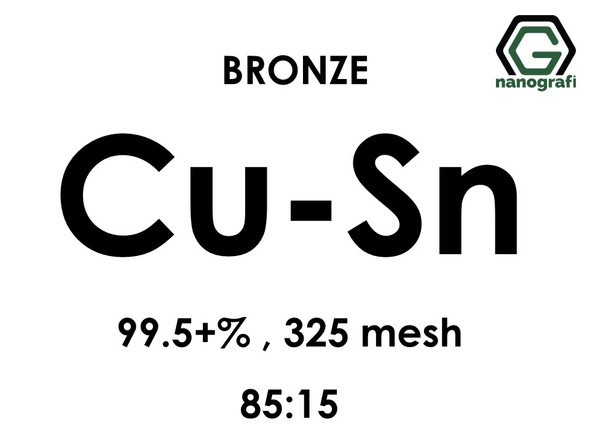 Copper Tin (Cu:85-Sn:15) Alloy Micron Powder, Purity: 99.5+%, Size: 325 mesh
