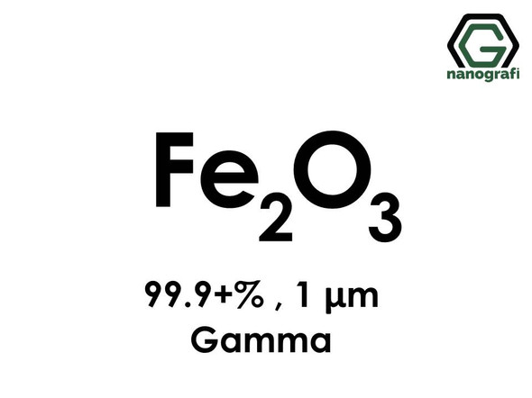 Fe2O3(Iron Oxide) gamma, Micron Powder , 1 um, Purity 99.9+%