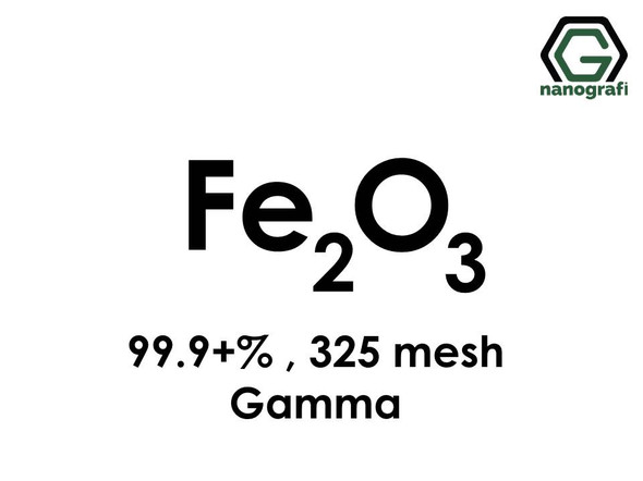 Fe2O3(Iron Oxide) gamma, Micron Powder , 325 mesh, Purity 99.9+%