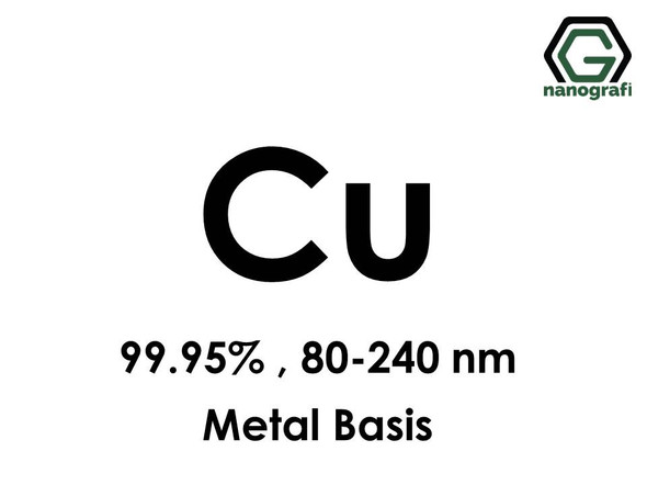Copper (Cu) Nanopowder/Nanoparticles, Purity: 99.95%, Size: 80-240 nm, Metal Basis- NG04EO1004