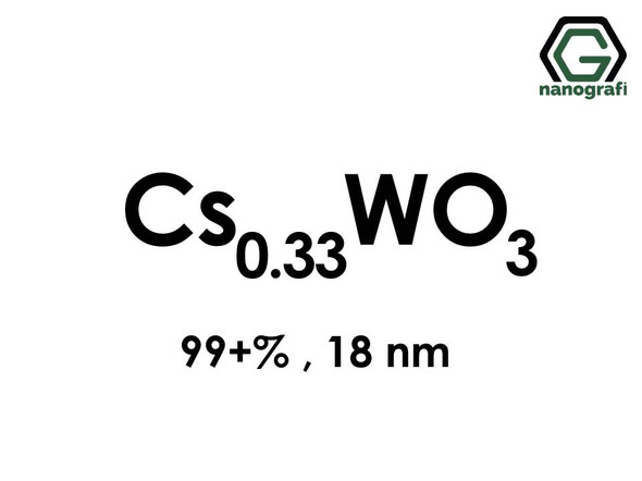 Cesium Tungsten Oxide (Cs0.33WO3) Nanopowder/Nanoparticles, Purity: 99+%, Size: 18 nm