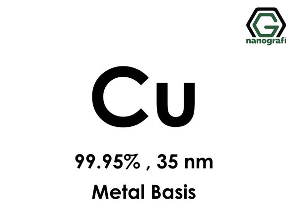 Copper (Cu) Nanopowder/Nanoparticles, Purity: 99.95%, Size: 35 nm, Metal Basis- NG04EO1007