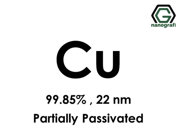 Copper (Cu) Nanopowder/Nanoparticles, Purity: 99.85%, Size: 22 nm, Partially Passivated- NG04EO1008