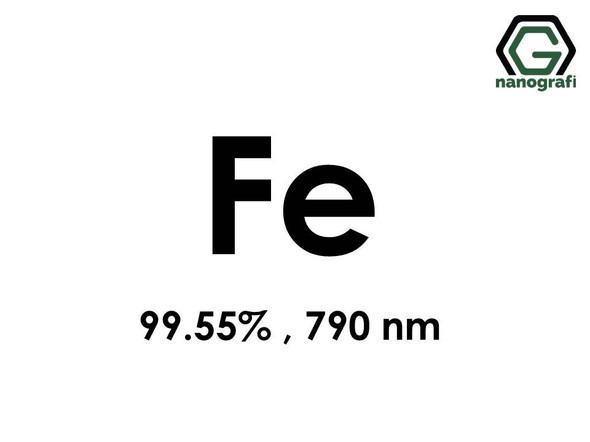 Iron (Fe) Nanopowder/Nanoparticles, Purity: 99.55%, Size: 790 nm- NG04EO1101
