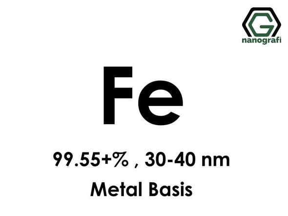 Iron (Fe) Nanopowder/Nanoparticles, Purity: 99.55+%, Size: 30-40 nm, Metal Basis- NG04EO1104