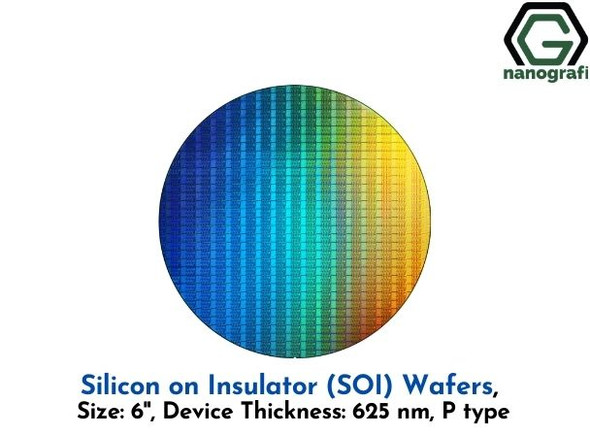 Silicon on Insulator (SOI) Wafers, Size: 6'', Device Thickness: 625 nm, P type