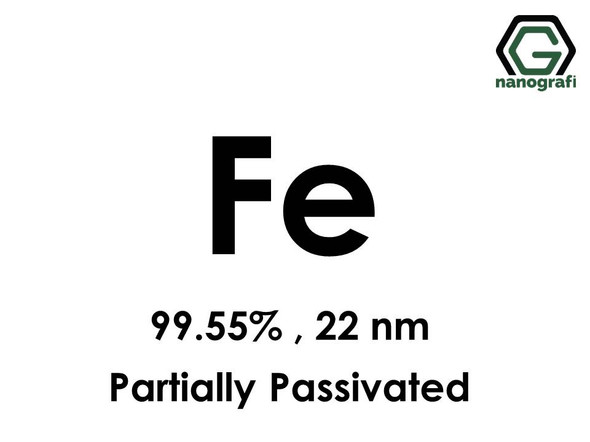 Iron (Fe) Nanopowder/Nanoparticles, Purity: 99.55%, Size: 22 nm, Partially Passivated- NG04EO1105