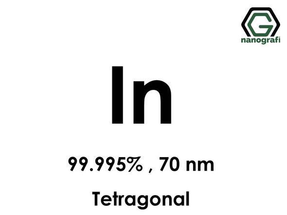 Indium (In) Nanopowder/Nanoparticles, Purity: 99.995%, Size: 70 nm, Tetragonal- NG04EO1201